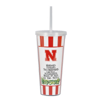 Magnolia_Lane_University_of_Nebraska_Huskers_Travel_Mug_with_Straw