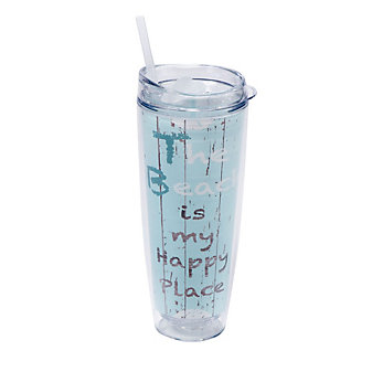 GRATITUDE BEACHSIDE HAPPY PLACE TUMBLER