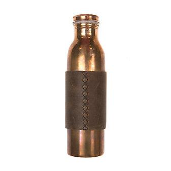 rustico phoenix copper water bottle - dark brown