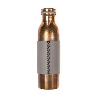 rustico phoenix copper water bottle - buckskin leather