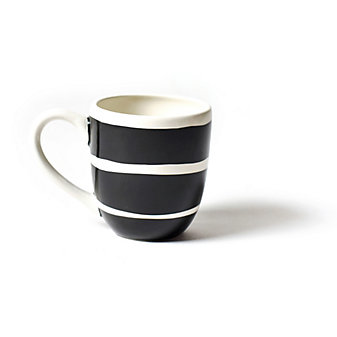 coton colors black plank mug