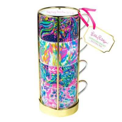 lilly pulitzer cappucino mug set