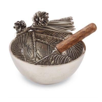 mud pie pine bough metal dip cup set