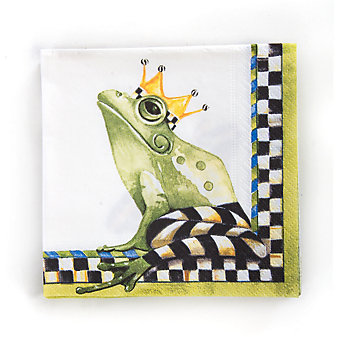 MacKenzie-Childs Frog Cocktail Paper Napkins