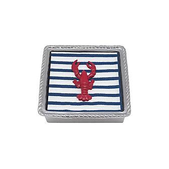 Mariposa Red Lobster Twist Napkin Box