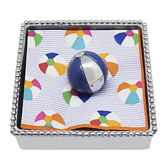 Mariposa Beach Ball Napkin Box, Blue