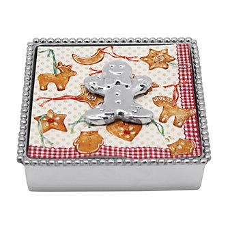 Mariposa Gingerbread Man Napkin Box