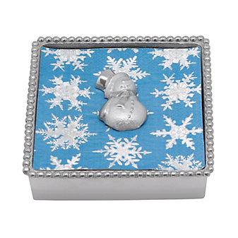 Mariposa Snowman Napkin Box