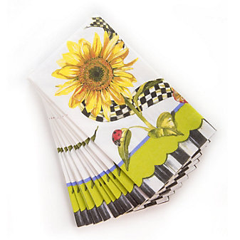 MacKenzie-Childs Sunflower Guest Paper Napkins