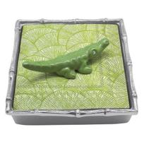 Mariposa_Green_Alligator_Bamboo_Napkin_Box