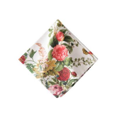 juliska floral napkins white