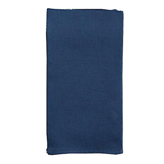 Chilewich Square Single Sided Linen Napkin, Blue