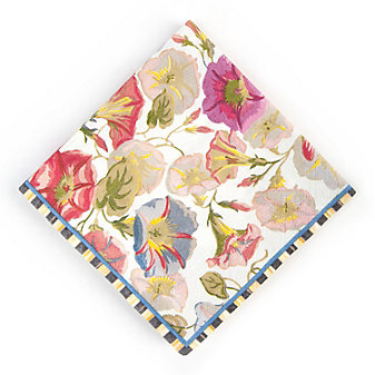 MacKenzie-Childs Morning Glory Paper Napkins - Cocktail