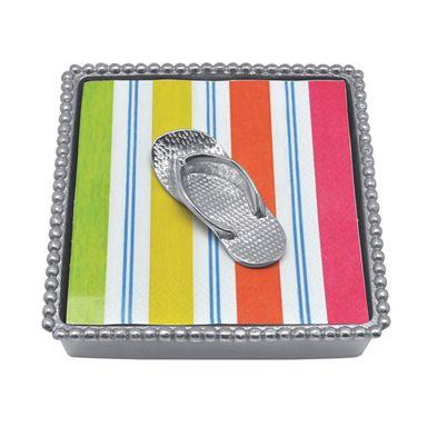 Mariposa Flip Flop Beaded Napkin Box