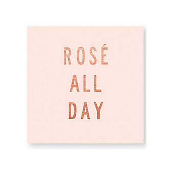 C.R. GIBSON ROSE ALL DAY BEVERAGE NAPKINS