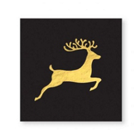 cr_gibson_black_and_gold_holiday_deer_beverage_napkin