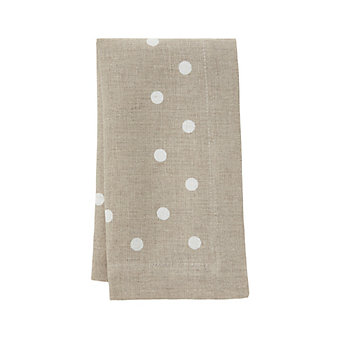 mode living belle beige napkins with white dots, set of 4