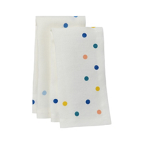 mode_living_belle_white_napkins_with_multi_color_dots,_set_of_4