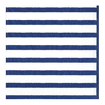 caspari bretagne blue paper dinner napkins