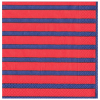 caspari_bretagne_red_&_blue_paper_luncheon_napkins