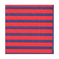 caspari_bretagne_red_&_blue_paper_cocktail_napkins