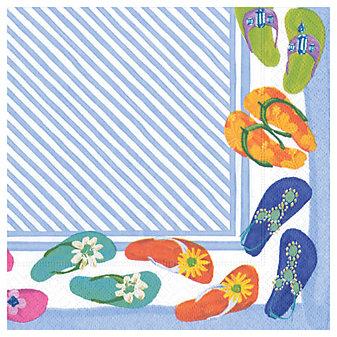 caspari fancy feet paper luncheon napkins