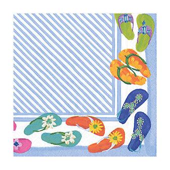 caspari fancy feet paper cocktail napkins
