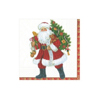 Caspari_Lynn_Haney_Santa_Paper_Cocktail_Napkins