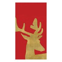 Caspari_Alpine_Stag_Paper_Linen_Guest_Towel_Napkins,_Red