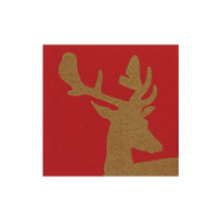 Caspari_Alpine_Stag_Paper_Linen_Cocktail_Napkins,_Red
