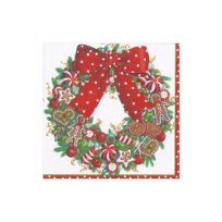 Caspari_Candy_Wreath_Paper_Cocktail_Napkins