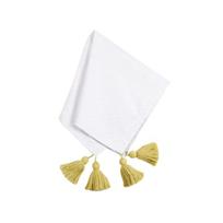 coton_colors_white_overlap_tassel_napkin