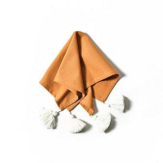 coton colors camel block tassel napkin