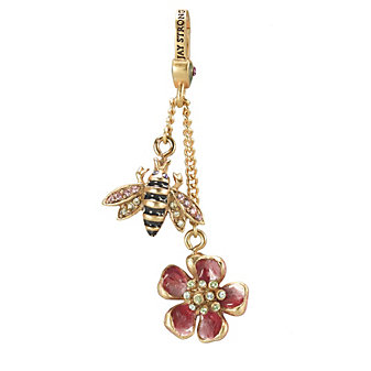 Jay Strongwater Bee and Flower Dangle Charm