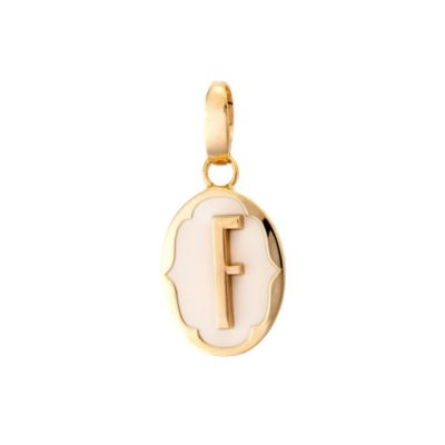 Spartina 449 Oval Cartouche Letter Charm F