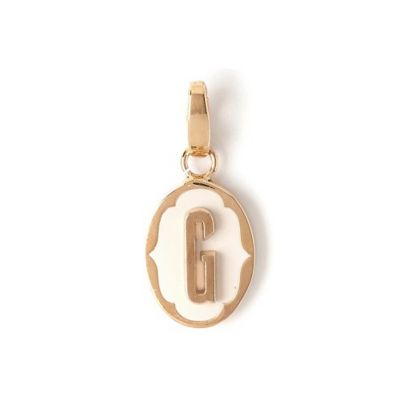 Spartina 449 Oval Cartouche Letter Charm G