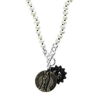 Miracle Icons Potato Pearl Toggle Necklace