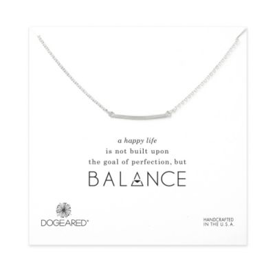 Dogeared Medium Square Bar Necklace, Sterling Silver