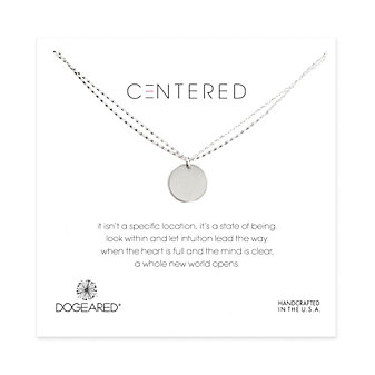Dogeared Large Circle Double Chain Necklace, Sterling Silver