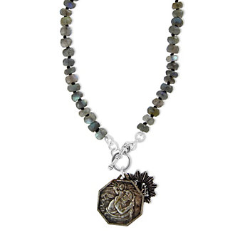Miracle Icons Labradorite Toggle Necklace