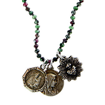 Miracle Icons Ruby Zoisite Necklace