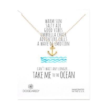 Dogeared Anchor Necklace, Gold Dipped