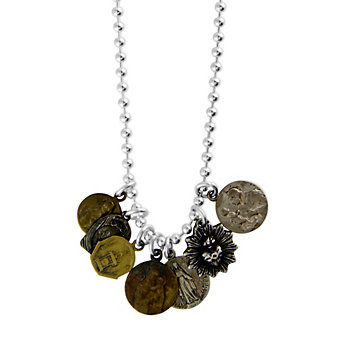 Miracle Icons Seven Charm Necklace With Ball Chain