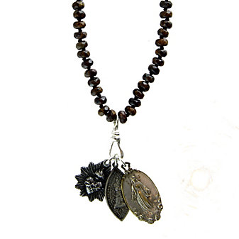 Miracle Icons Bronzite Rondelle Necklace