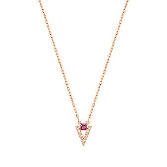 Swarovski Rose Gold-Plated Chevron Funk Necklace