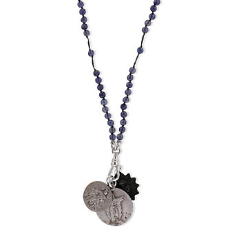 Miracle Icons Iolite Rosary Necklace