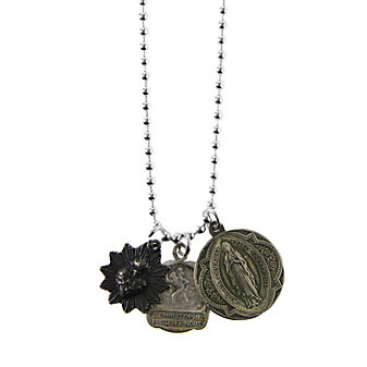 """Miracle Icons 24"""" Ball Chain 3 Charm Necklace"""
