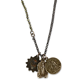 Miracle Icons Mini Pyrite Necklace