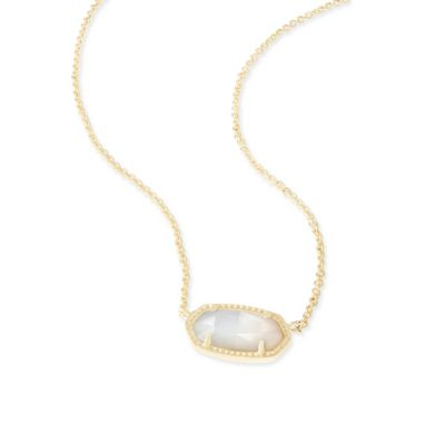 Kendra Scott Elisa Gold and Ivory Mother of Pearl Necklace