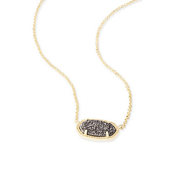Kendra Scott Elisa Gold and Platinum Drusy Necklace